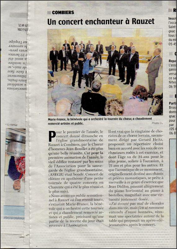 Article La Charente Libre