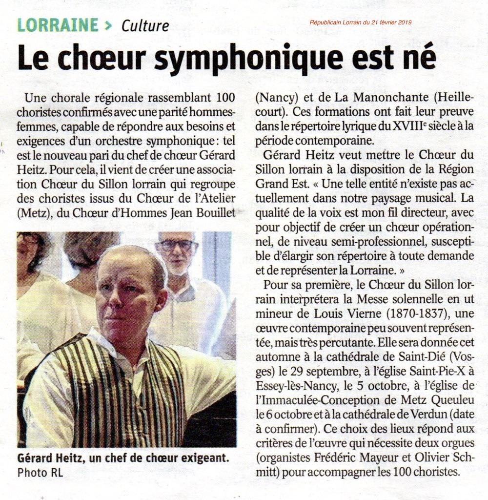 CSL Le choeur symphonique est né